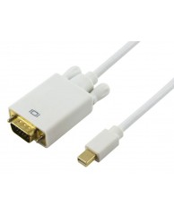 Powertech adapter Mini DP Male / VGA 15PIN MALE - 3M