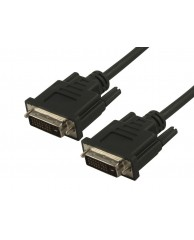Powertech DVI 25+5 to DVI 25+5pin, male, 1.5m