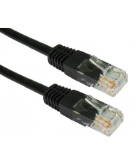POWERTECH UTP Cat 6e, Black, 0.5m