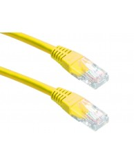 Powertech UTP CAT5E, CCA, YELLOW, 1M