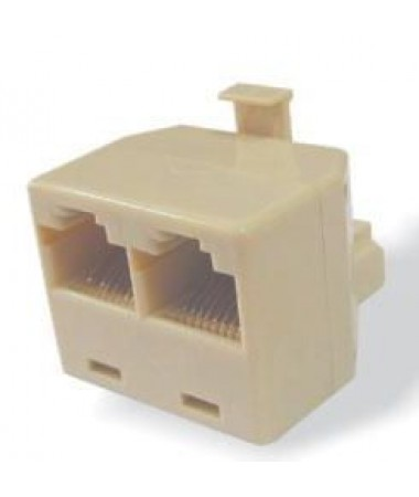 LANCOM RJ45 adapter 8p8c male / 2 female, white