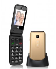 POWERTECH Sentry II, SOS Call, Dual Sim, με φακό, Gold