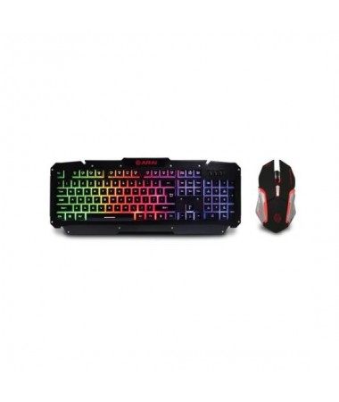 Zeroground ARAI Keyboard & Mouse Metalic