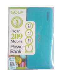 GOLF Power Bank Tiger 209 13000mAh, 2x Output, Blue
