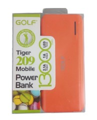 GOLF Power Bank Tiger 209 13000mAh, 2x Output, Orange