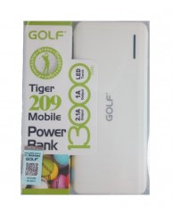 GOLF Power Bank Tiger 209 13000mAh, 2x Output, White