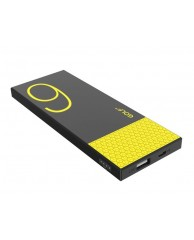 GOLF Power Bank Hive6 6000mAh, Ultra-thin, 1x output, Black-Yellow
