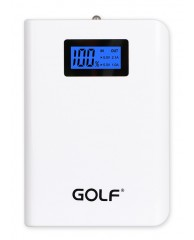 GOLF Power Bank LCD04 10400mAh, LCD Display, 2x output, White