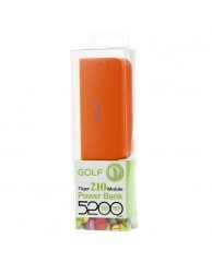 GOLF Power Bank Tiger 210 5200mAh, 1x Output, Orange