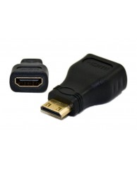 Powertech adapter mini HDMI Αρσενικό / HDMI 19pin Θηλυκό
