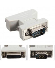 POWERTECH Adapter VGA 15pin male σε DVI-I 24+5 pin female