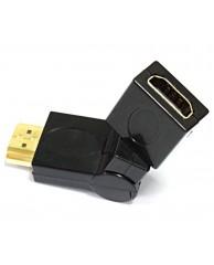 Powertech adapter HDMI M / HDMI F, 360 μοίρες περιστροφή