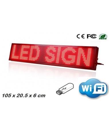 LED Πινακίδα Προγραμματιζόμενη Scrolling Red-Εσωτερικού χώρου